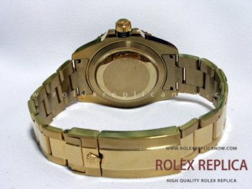 Rolex Submariner Date Replica Black Dial Gold 2836-2 Swiss Eta (4)