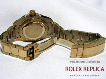 Rolex Submariner Date Replica Black Dial Gold 2836-2 Swiss Eta (5)