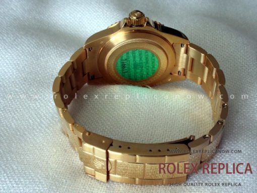 Rolex Submariner Date Replica Black Dial Gold