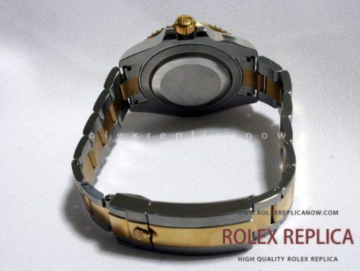 Rolex Submariner Date Replica Black Dial Steel and Gold Swiss Eta