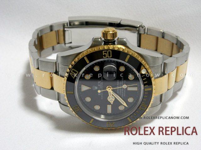 Rolex Submariner Date Replica Black Dial Steel and Gold Swiss Eta a6b5fd1afb4