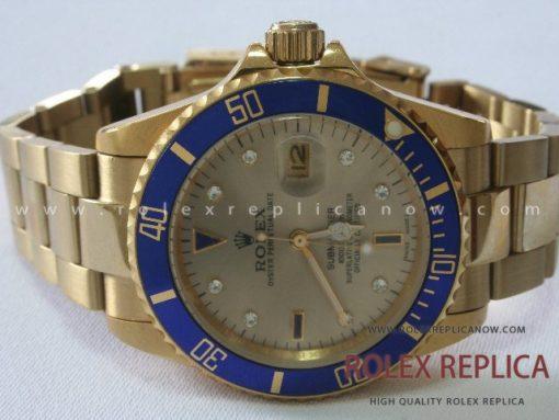 Rolex Submariner Date Replica Blue Bezel Gold
