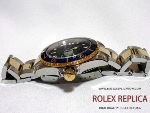 Rolex Submariner Date Replica Blue Dial Steel and Gold