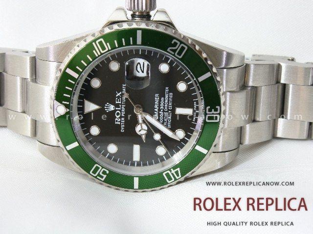 Rolex Submariner Date Replica Green Bezel 2836-2 Swiss Eta