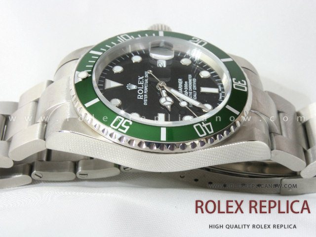 Rolex Submariner Date Replica Green Bezel 2836-2 Swiss Eta