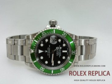Rolex Submariner Date Replica Green Bezel Swiss Eta