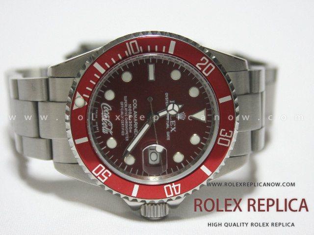 Cheap Rolex For Sale >> Rolex Submariner Date Replica Red Dial Coca Cola