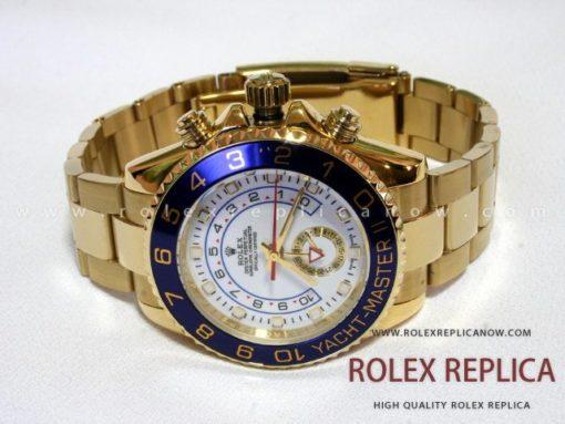 Rolex Yacht Master II Replica White Dial Gold